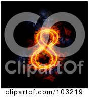 Royalty Free RF Clipart Illustration Of A Blazing Number 8 Symbol
