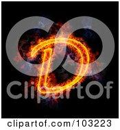 Royalty Free RF Clipart Illustration Of A Blazing Capital D Symbol