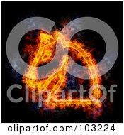 Royalty Free RF Clipart Illustration Of A Blazing Chess Knight Symbol