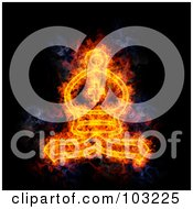 Royalty Free RF Clipart Illustration Of A Blazing Chess Bishop Symbol