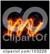 Royalty Free RF Clipart Illustration Of A Blazing Lowercase M Symbol