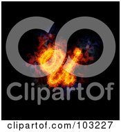Royalty Free RF Clipart Illustration Of A Blazing Capital Italic U Symbol