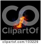 Royalty Free RF Clipart Illustration Of A Blazing 1 Symbol