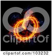 Royalty Free RF Clipart Illustration Of A Blazing Capital O Symbol