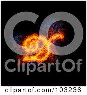 Royalty Free RF Clipart Illustration Of A Blazing Capital Italic D Symbol