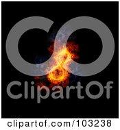 Royalty Free RF Clipart Illustration Of A Blazing 8 Symbol