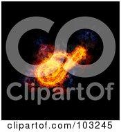 Royalty Free RF Clipart Illustration Of A Blazing Capital Italic S Symbol