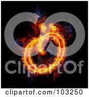 Royalty Free RF Clipart Illustration Of A Blazing Symbol Capital O