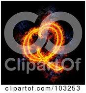 Royalty Free RF Clipart Illustration Of A Blazing Capital Q Symbol