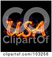 Royalty Free RF Clipart Illustration Of Blazing USA by Michael Schmeling