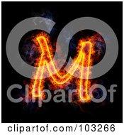 Royalty Free RF Clipart Illustration Of A Blazing Capital M Symbol