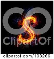 Royalty Free RF Clipart Illustration Of A Blazing Capital S Symbol