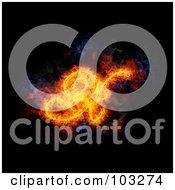 Royalty Free RF Clipart Illustration Of A Blazing Capital Italic X Symbol