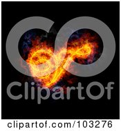 Royalty Free RF Clipart Illustration Of A Blazing Capital Italic V Symbol