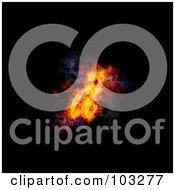 Royalty Free RF Clipart Illustration Of A Blazing Symbol A