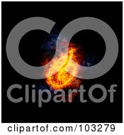 Royalty Free RF Clipart Illustration Of A Blazing Ampersand Symbol 2