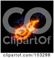 Royalty Free RF Clipart Illustration Of A Blazing Capital Italic J Symbol