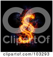 Royalty Free RF Clipart Illustration Of A Blazing Paragraph Symbol 1 by Michael Schmeling