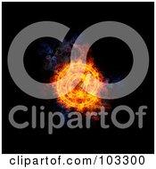 Royalty Free RF Clipart Illustration Of A Blazing Arobase Symbol