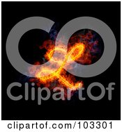 Royalty Free RF Clipart Illustration Of A Blazing Capital Italic L Symbol