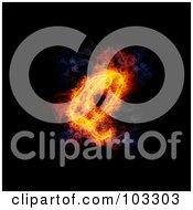 Royalty Free RF Clipart Illustration Of A Blazing Capital Italic Q Symbol