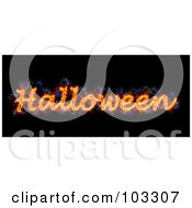 Royalty Free RF Clipart Illustration Of A Blazing Halloween Greeting
