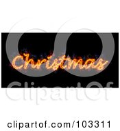 Royalty Free RF Clipart Illustration Of A Blazing Christmas Greeting