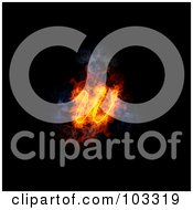 Royalty Free RF Clipart Illustration Of A Blazing Lowercase Italic W Symbol