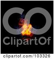 Blazing Lowercase Italic U Symbol