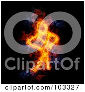 Royalty Free RF Clipart Illustration Of A Blazing Stick Man Symbol