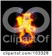 Royalty Free RF Clipart Illustration Of A Blazing Snowman Symbol