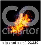 Royalty Free RF Clipart Illustration Of A Blazing Olive Symbol