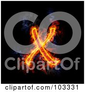 Royalty Free RF Clipart Illustration Of A Blazing Capital X Symbol