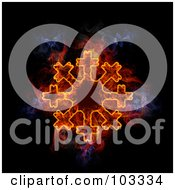 Royalty Free RF Clipart Illustration Of A Blazing Snowflake Symbol