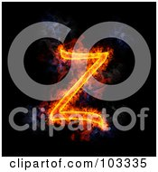Royalty Free RF Clipart Illustration Of A Blazing Capital Z Symbol