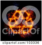 Royalty Free RF Clipart Illustration Of A Blazing Recycle Symbol