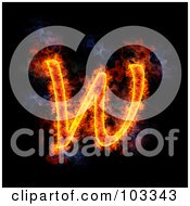 Royalty Free RF Clipart Illustration Of A Blazing Capital W Symbol