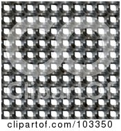 Royalty Free RF Clipart Illustration Of A Silver Metal Mesh Background Over White