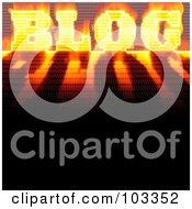 Fiery Binary Blog Word With A Shadow