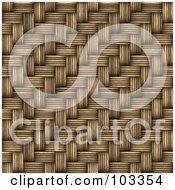 Royalty Free RF Clipart Illustration Of A Wicker Weave Texture Background