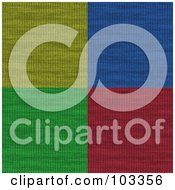 Royalty Free RF Clipart Illustration Of A Background Of Yellow Blue Green And Red Yarn