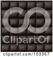 Royalty Free RF Clipart Illustration Of A Seamless Brown Padded Leather Pattern by Arena Creative