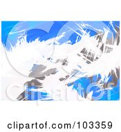 Royalty Free RF Clipart Illustration Of A Background Of White Blue And Gray Grunge