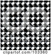 Royalty Free RF Clipart Illustration Of A Black Metal Mesh Background Over White