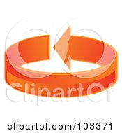 Royalty Free RF Clipart Illustration Of A 3d Orange Arrow Circling by MilsiArt