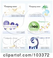 Royalty Free RF Clipart Illustration Of A Digital Collage Of Six Business Card Designs With Sample Text 1