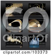 Digital Collage Of Six Business Card Designs With Sample Text - 2