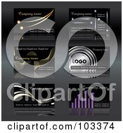 Royalty Free RF Clipart Illustration Of A Digital Collage Of Six Business Card Designs With Sample Text 3
