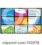 Royalty Free RF Clipart Illustration Of A Digital Collage Of Nine Business Card Designs With Sample Text 2