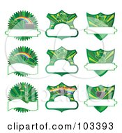 Royalty Free RF Clipart Illustration Of A Digital Collage Of St Patricks Day Labels by MilsiArt